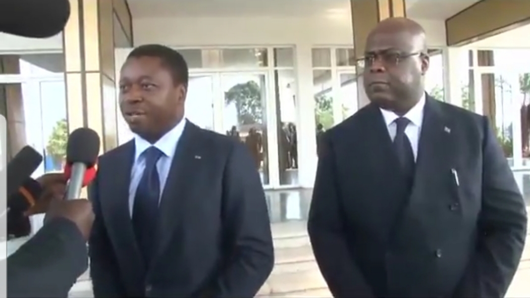 Gnassingbé lors de son intervention / Capture  d'écran
