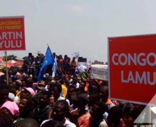 Une manifestation de Lamuka en 2018. Ph. ACTUALITE.CD