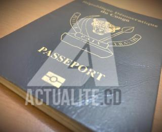 Passeport congolais/Ph. ACTUALITE.CD