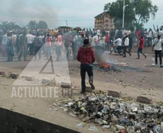 Illustration. Une manifestation des militants de l'UDPS à Kinshasa/Ph ACTUALITE.CD
