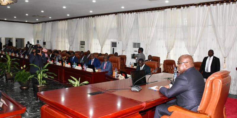 Félix Tshisekedi présidant un conseil des ministres/Ph Présidence
