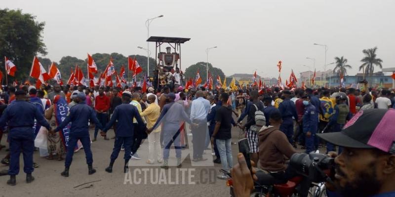 La marche du FCC ce jeudi 23 juillet à Kinshasa/Ph. ACTUALITE.CD