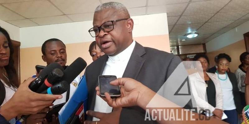 Abbé Donatien Nshole, secrétaire général de la CENCO/Ph ACTUALITE.CD