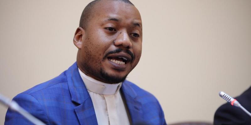 Révérend Eric Nsenga, porte-parole de l'Eglise du Christ au Congo (ECC)/Ph ACTUALITE.CD