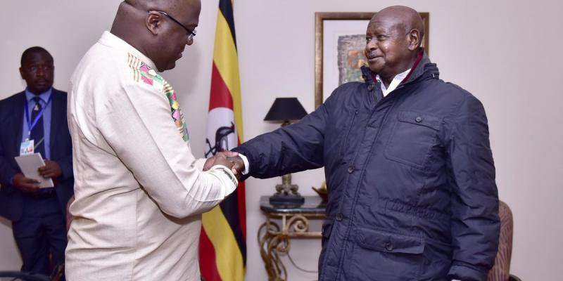 Yoweri Museveni et Félix Tshisekedi