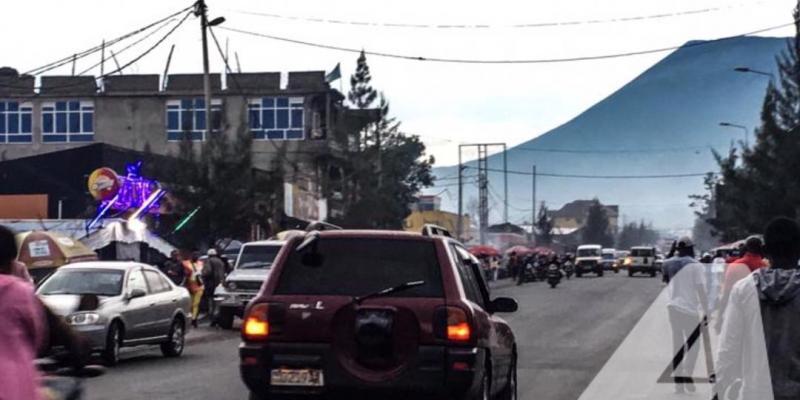 Une vue du volcan Nyiragongo à partir de la ville de Goma/Ph ACTUALITE.CD