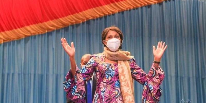 Jeanine Mabunda, présidente de l'Assemblée nationale (Photo Droits Tiers)
