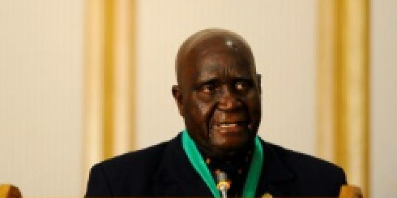 AFP/L'ancien président zambien Kenneth Kaunda, le 17 août 2010, lors d'un discours à Windhoek en Namibie
