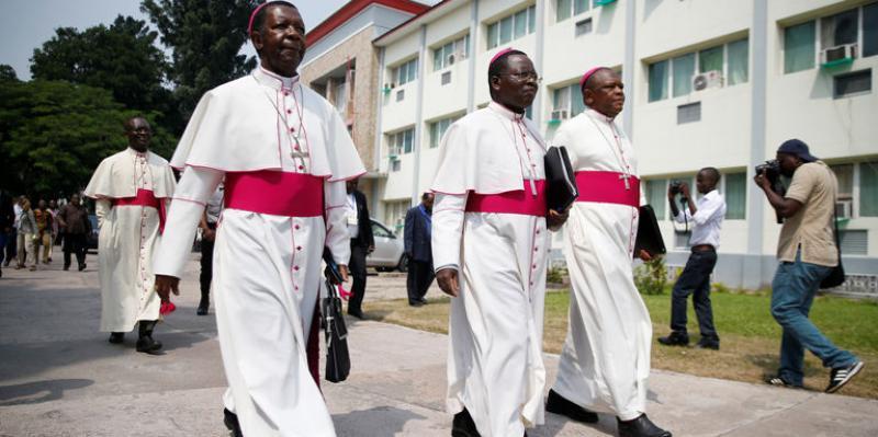 Les évêques catholiques  Photo ACTUALITE. CD ( Pascal Mulegwa )