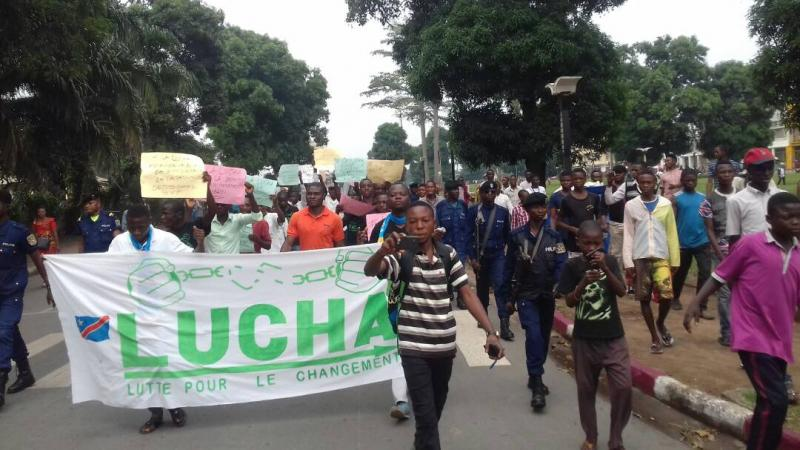 Marche des militants de la Lucha à Kinshasa