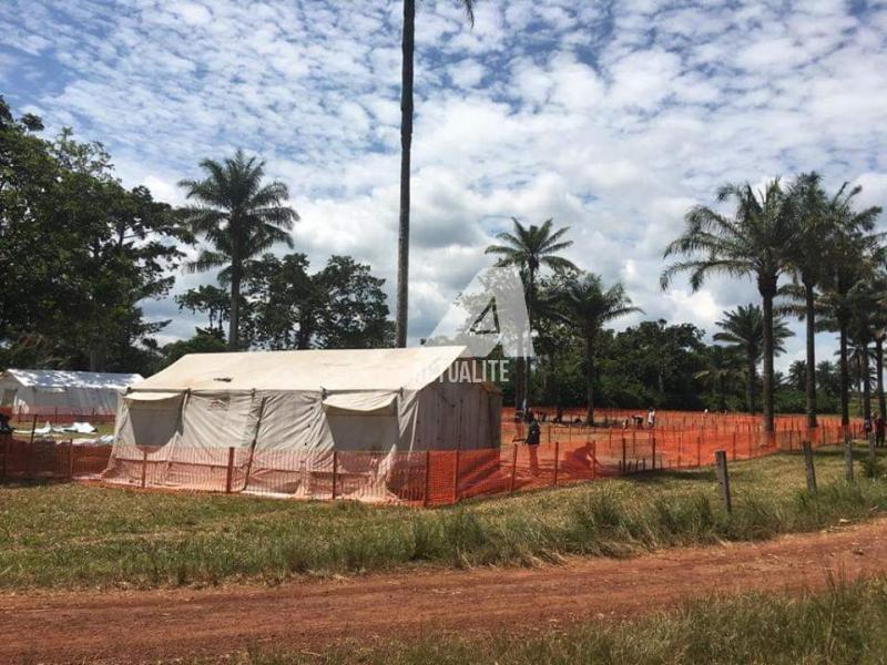 Centre de traitement d'Ebola à 15Km de Mbandaka (Ph.ACTUALITE.CD)