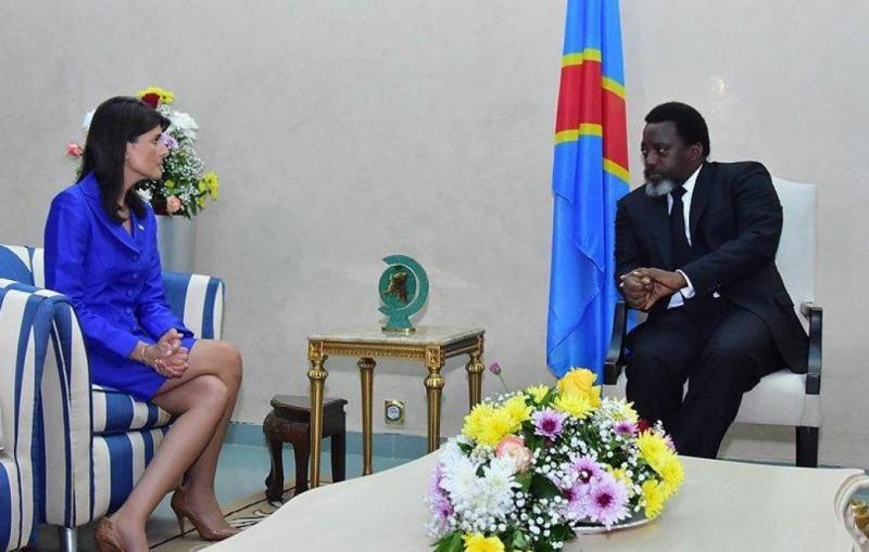Nikki Haley et Joseph Kabila