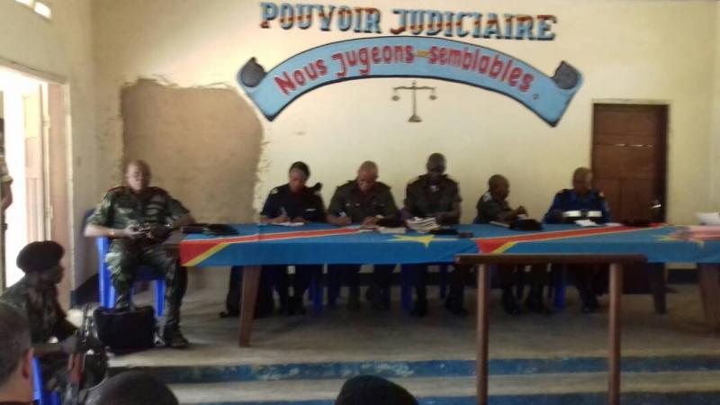 Audience au tribunal militaire de Kananga sur le meurtre des experts de l'ONU (Photo Sosthène Kambidi/ACTUALITE.CD)