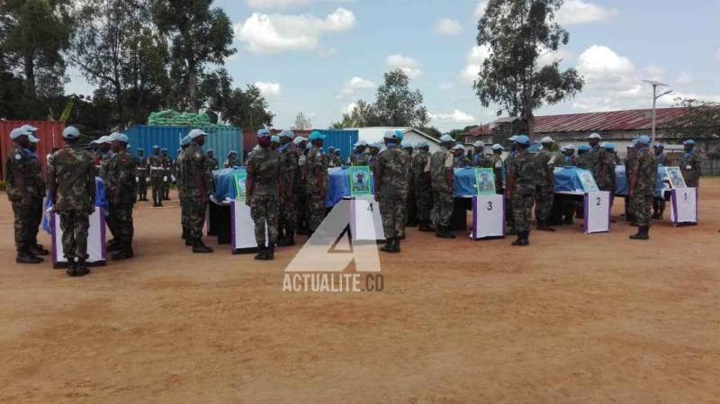 Les corps de six casques bleus malawites tués à Beni
