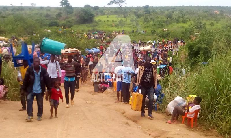 Des Congolais venus d'Angola à Kamako/Photo ACTUALITE.CD