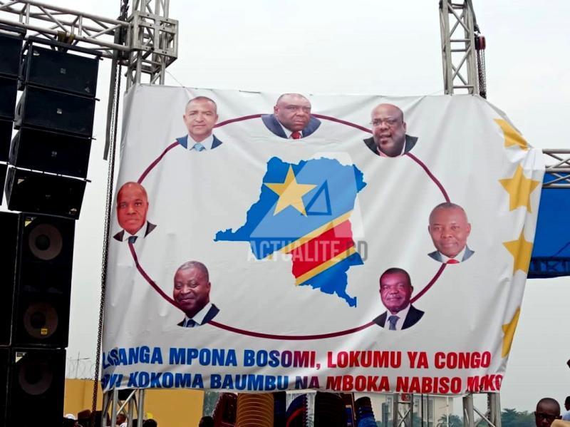 Meeting de l'opposition à Kinshasa