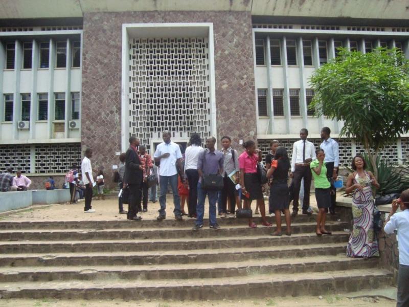 Les étudiants à l'Unikin/ Ph. droits tiers