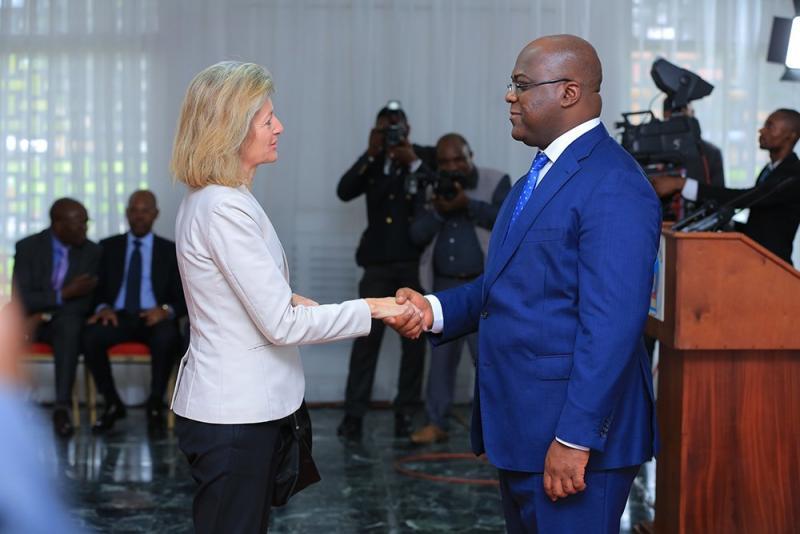 Le président Félix Tshisekedi lors de la cérémonie d'échange de voeux avec les diplomates  accrédités à Kinshasa/Ph Présidence de la République