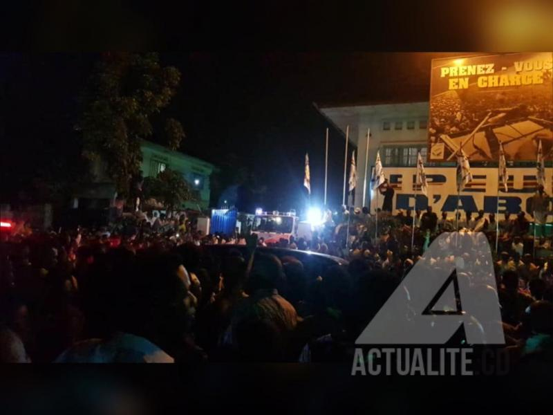 RDC : arrivée à Kinshasa de l'avion transportant le corps d'Etienne Tshisekedi (télévision)