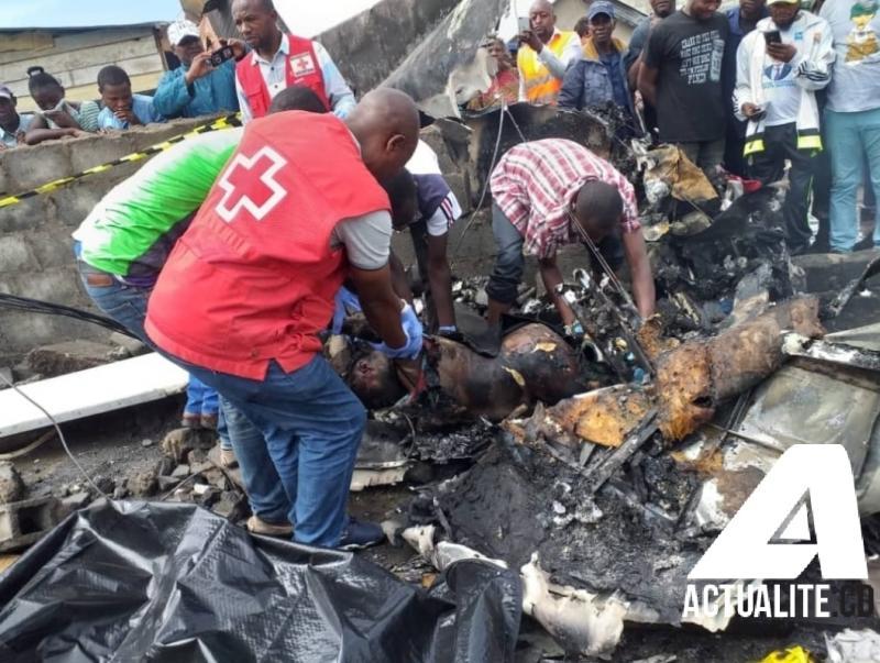 RDC: un petit avion s'écrase sur Goma, au moins 23 morts
